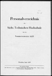 Personalverzeichnis Sommersemester 1928