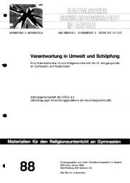 Verantwortung in Umwelt und Schöpfung - OPUS Würzburg