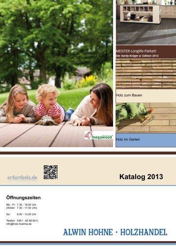 Katalog 2013 - Holzhandel Alwin Höhne