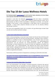 Die Top 10 der Luxus Wellness-Hotels - Trivago