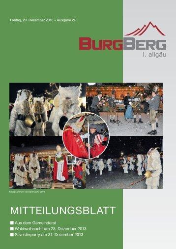 Burgberger Mitteilungsblatt Nr. 24/2013