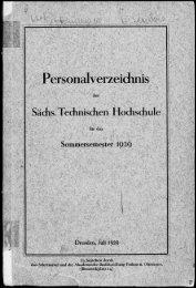 Personalverzeichnis Sommersemester 1929