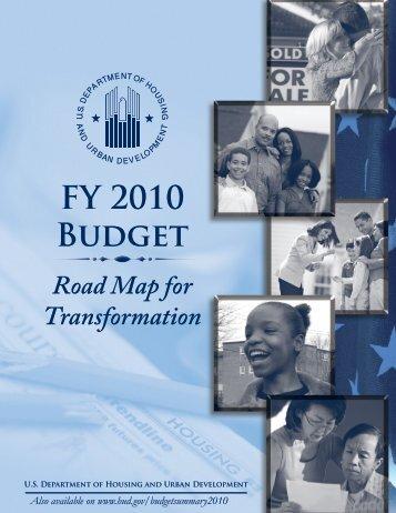 FY 2010 Budget - HUD