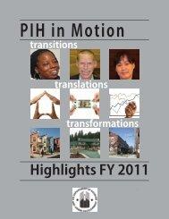 PIH in Motion Newsletter - HUD