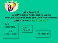 Attachment 19 Cost Principles Applicable to Grants and ... - HUD