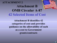 Attachment B OMB Circular A-122 Selected Items of Cost - HUD