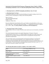 Instructions for Returning FEMA Funds to a HOME PJ - HUD