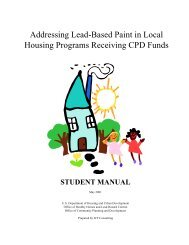 Addressing Lead-Based Paint in Local Housing Programs ... - HUD
