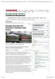 Günstige Alternative für Versicherer: Mediation statt Prozess