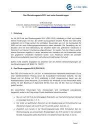 Das Ökostromgesetz 2012 und seine Auswirkungen - EEG