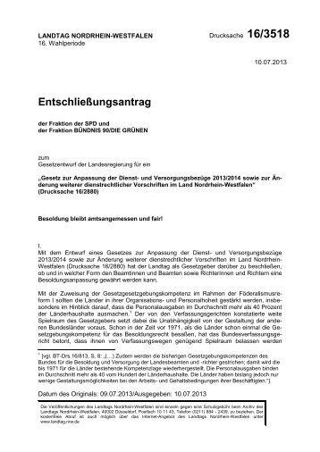 Drucksache 16/3518, Entschließungsantrag zum - Bündnis 90/Die ...