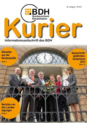 Kurier 7/8 2013 - BDH Bundesverband Rehabilitation