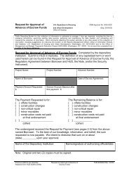 Request for Approval of Advance of Escrow Funds Request ... - HUD