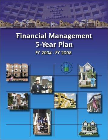 Financial Management 5-Year Plan - HUD