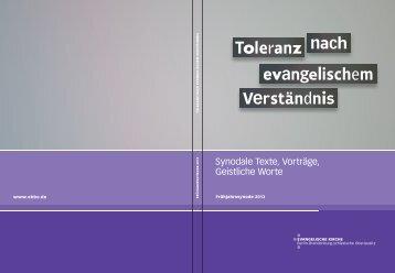 Toleranz nach evangelischem Verständnis
