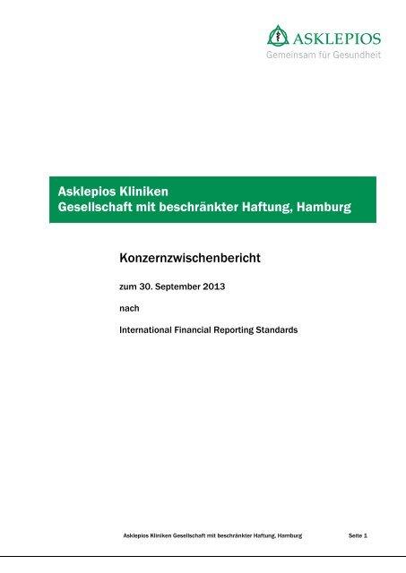 Zwischenbericht zum 30. September 2013 - Asklepios