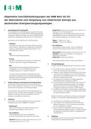 Allgemeine Geschäftsbedingungen der EBM Netz AG für die ...