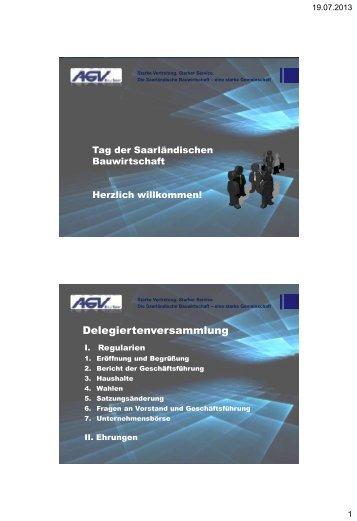 PowerPoint-Präsentation - AGV Bau Saar