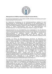 Stellungnahme der DGIM - Deutsche Gesellschaft für Innere Medizin ...