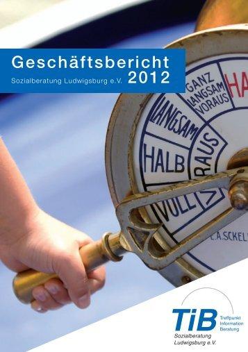 Geschäftsbericht - Sozialberatung Ludwigsburg eV