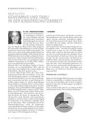 geheimnis und tabu in der kinderschutzarbeit - Lehranstalt für ...