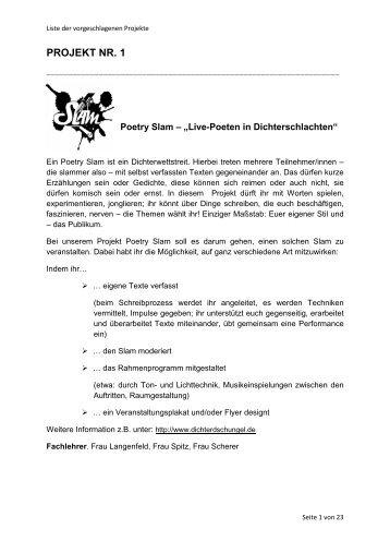 Projektbeschreibungen - Albert Einstein Gymnasium