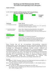 Nachtrag zum KVV Wintersemester 2013/14 - Korrekturen und ...