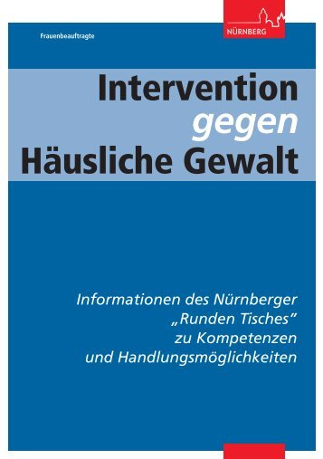 Intervention gegen Häusliche Gewalt ... - Stadt Nürnberg