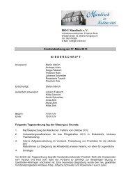 Vorstandssitzung vom 17. März 2013 - Mardisch in Siebenbürgen