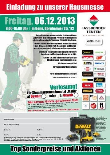Freitag,06.12.2013 - Fassbender Tenten