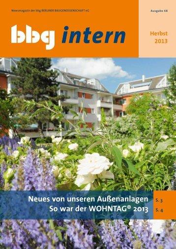 bbg intern 68 - Berliner Baugenossenschaft eG