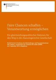Bericht für die 23. Konferenz der Gleichstellungs