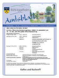 Amtsblatt vom 31.10.2013 (KW 44) - Gemeinde Böhl-Iggelheim
