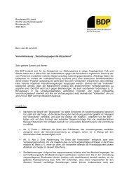 Stellungnahmen der politischen Parteien - EJPD - admin.ch