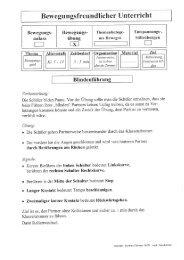 Bewegungsfreundlicher Unterricht 2