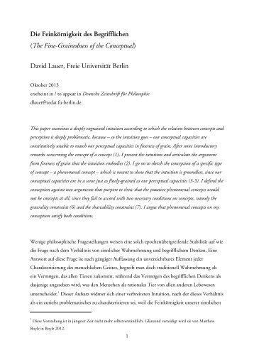 Preprint - Fachbereich Philosophie und Geisteswissenschaften