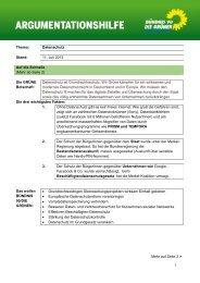Thema: Datenschutz Stand: 11. Juli 2013 Auf die Schnelle (Mehr ab ...