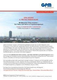 Programm PM-Tag Rhein-Ruhr - GPM Deutsche Gesellschaft für ...