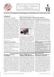 Newsletter des Departments Heilpädagogik und Rehabilitation der ...