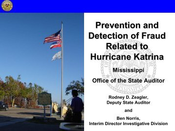 Prevention and Detection of Fraud Related to Hurricane Katrina - HUD