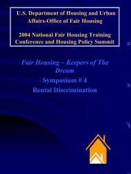 Fair Housing – Keepers of The Dream Symposium # 4 Rental ... - HUD