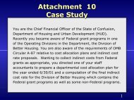Attachment 10 Case Study (continued) - HUD
