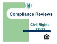 Compliance Reviews - HUD