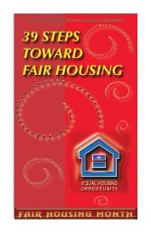 39 steps toward fair housing 39 steps toward fair housing - HUD