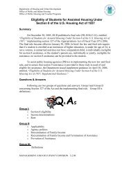 Eligibility of Students for Assisted Housing Under Section 8 of ... - HUD