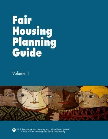 Fair Housing Planning Guide - HUD