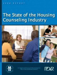 Housing Counseling Process Evaluation and Design of ... - HUD User
