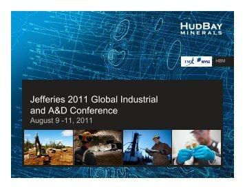 View this Presentation (PDF 3.35 MB) - Hudbay Minerals