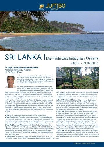 SRI LANKA |Die Perle des Indischen Ozeans - Jumbo Touristik