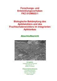 Forschungs- und Entwicklungsvorhaben FKZ 01UM022/1 ... - BLE